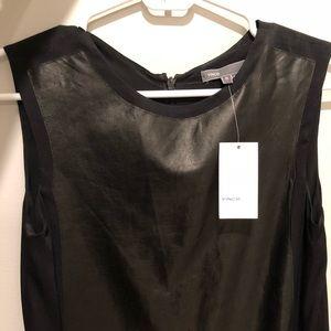Vince leather sheath dress